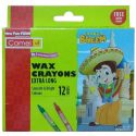 Camel Wax Crayons Extra Long – 12 Shades